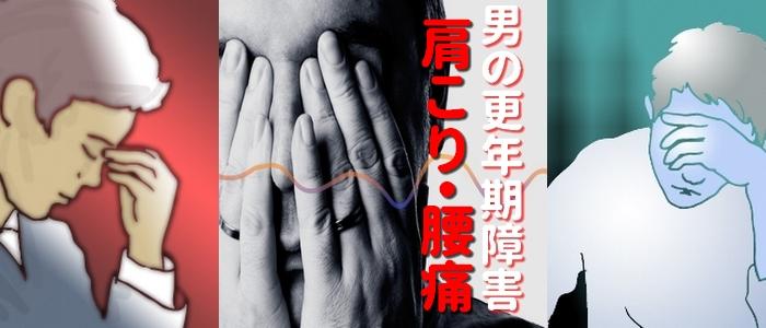 男の更年期障害 肩こり・腰痛