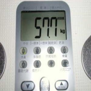 2009年1月7日の体組成計の体重