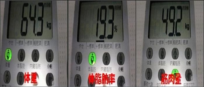 2010.1.30 体重・体脂肪率・筋肉量