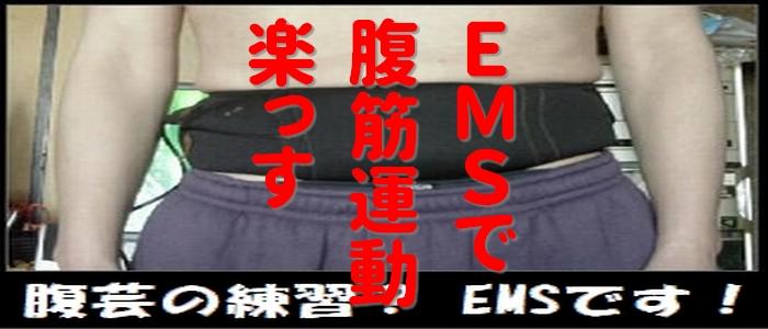 腹芸の練習じゃありません! EMS運動です 動画