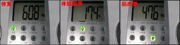 2度目ダイエット2010年2月14日体重・体脂肪率・筋肉量