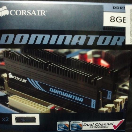 CORSAIR DDR3 1600MHz 8GB 2x240 DIMM Unbuffered 9-9-9-24 1.65V XMS3 DOMINATOR CMP8GX3M2A1600C9