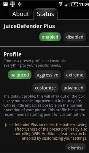 JuiceDefender 節電アプリ