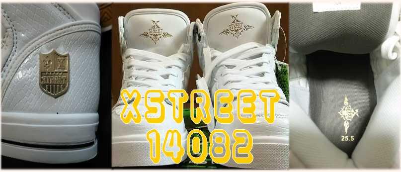 XSTREET 14082 白ハイカット 白いスニーカー汚さないように