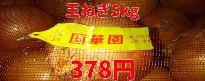国華園 和泉本店で佐賀産玉ねぎ5キロ378円を買ってみた